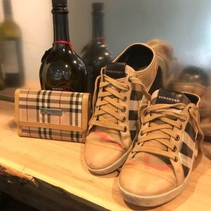 Burberry Sneakers & Wallet Used Worn 37 Authentic